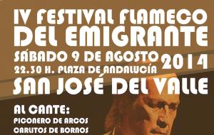 """IV Festival flamenco del """"Emigrante"""""""