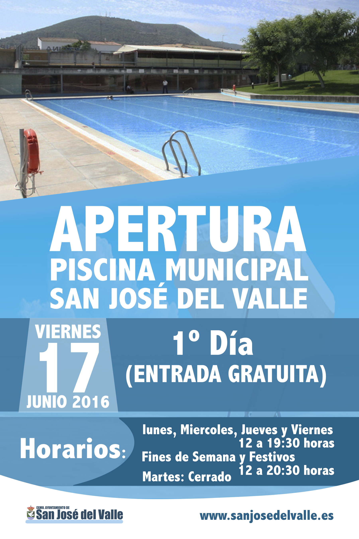 Apertura de la piscina municipal web oficial del for Piscina ciudad de cadiz