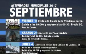 "Actividades Municipales 2017 ""Septiembre"""