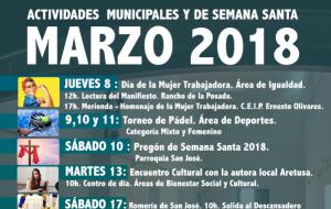 Programación de las Actividades Municipales y Semana Santa 2018