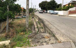 Comienzo de las Obras de acerado y replanteo en La Cuesta de San Antonio.