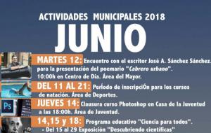 Programación de las Actividades Municipales para este mes de Junio.