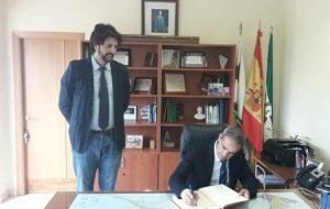 Visita Oficial del Subdelegado del Gobierno a San José del Valle.