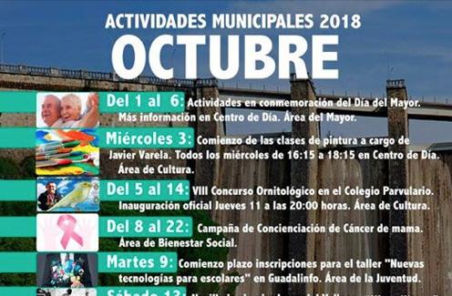 Programación de las Actividades Municipales  para este mes de Octubre.