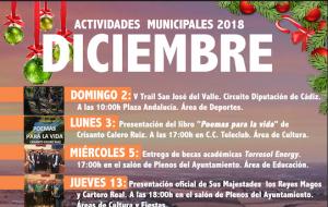 Programación de Actividades Municipales para el mes de Diciembre.