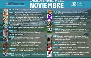 Programación de Actividades Municipales para el mes de noviembre.