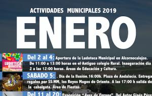 Programación de actividades municipales Enero 2019