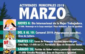 Programación de actividades municipales Marzo 2019