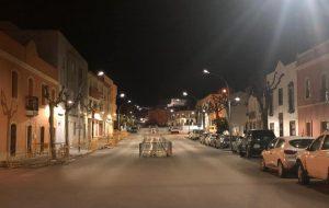 La Avenida de la Independencia completa ya luce su nueva iluminación.