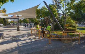¿Qué se está haciendo ahora en la plaza Andalucía?