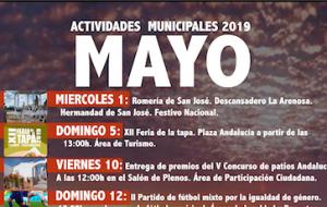 Programación de Actividades Municipales para el mes de Mayo.