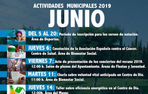 Programación de actividades municipales Junio 2019