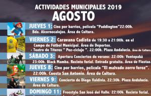 Programación de Actividades Municipales para el mes de Agosto 2019.