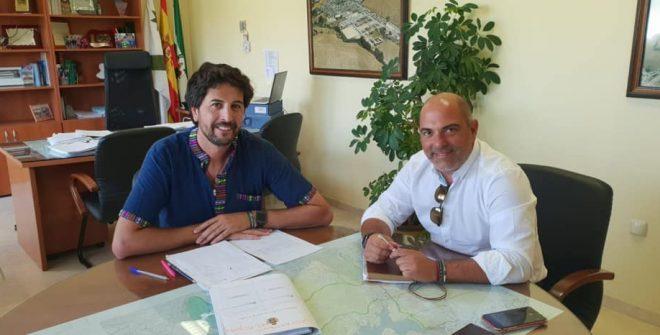 Visita oficial del Diputado de Programas y Desarrollo Eco. de la Excma. Diputación.