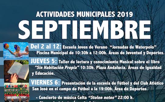 Programación del mes de Septiembre 2019
