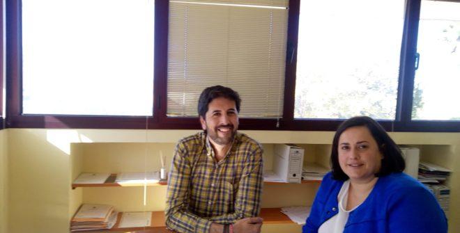La Presidenta de La Mancomunidad Maria Santos Sevillano Villegas visita nuestro pueblo.