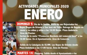 Programación de Actividades Municipales para el mes de Enero.