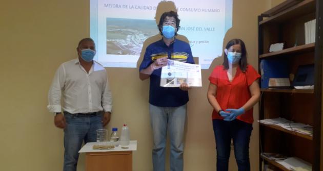 Proceso de descalcificación del agua en San José del Valle