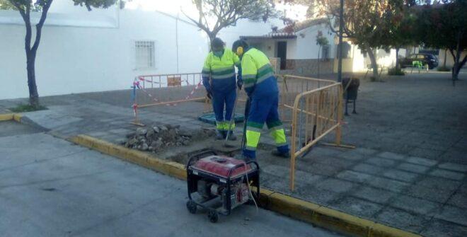 Comienza la instalación de las Fuentes por todo nuestro  pueblo.