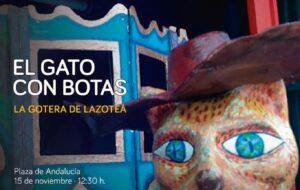"""Teatro de títeres """"El gato con botas"""""""